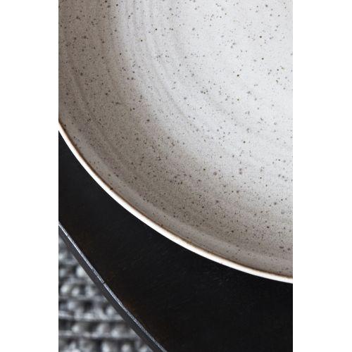 Porcelánový talíř Pion Grey/White