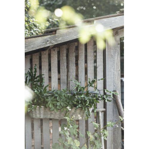 Závěsný proutěný koš na balkon Natural