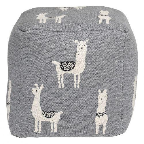 Dětský taburet Grey Llama