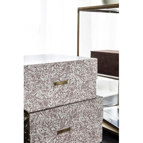 Úložný box Floral Grey