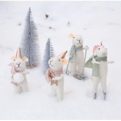 Vánoční ozdoba Skiing Mouse