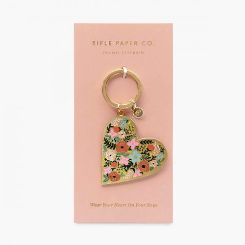 Kovová klíčenka Floral Heart Gold