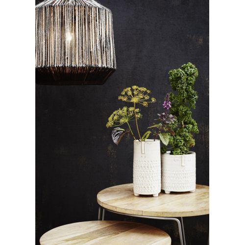 Závěsná lampa Black/White Jute