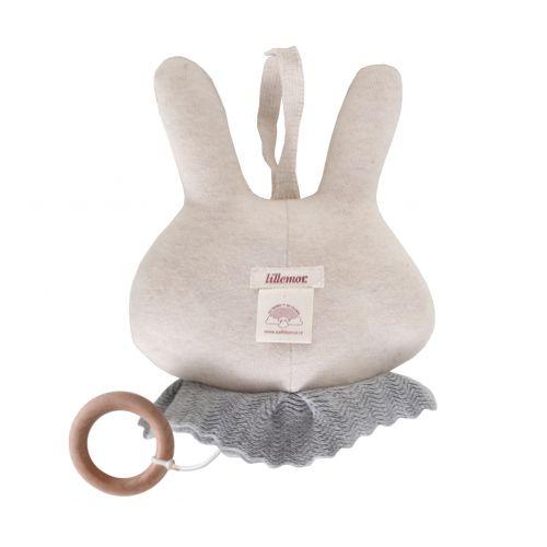 Závěsná pletená hračka Music Circus Bunny