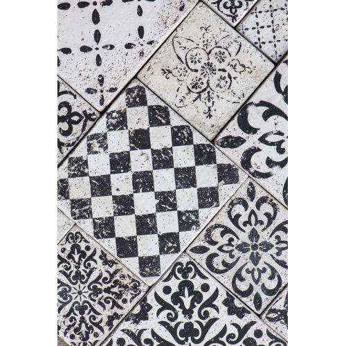 Mini keramická kachlička Marrakech Black