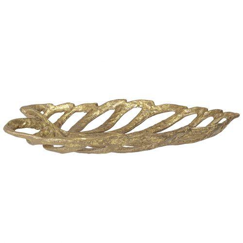 Dekorativní železná mísa Gold Leaf