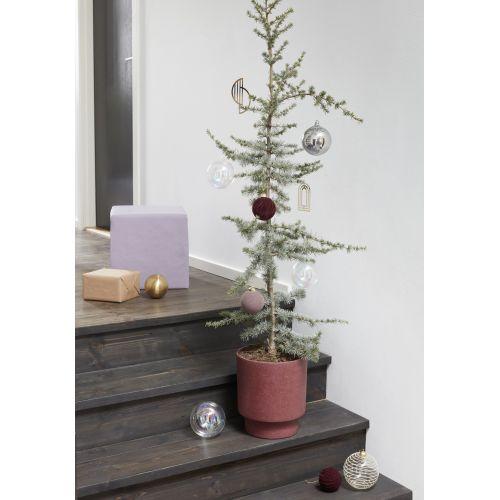 Vánoční ozdoba Burgundy Velur