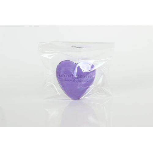 Francouzské mýdlo Heart - Fialka a ostružina 25gr