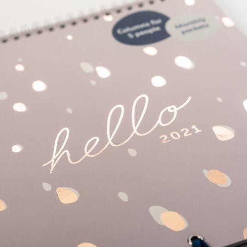 Rodinný nástěnný kalendář Lilac Spot 2021