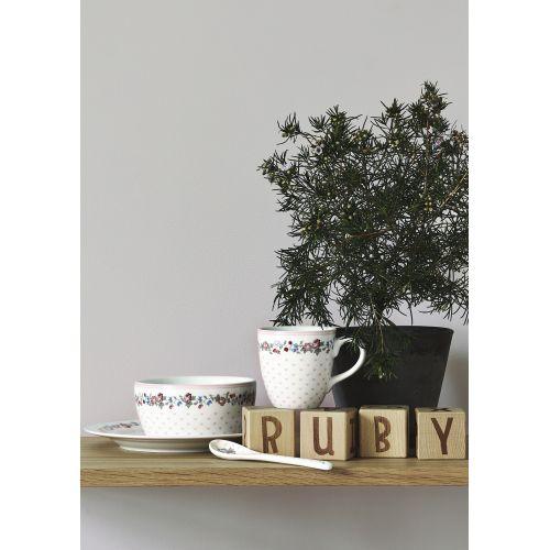Porcelánový talířek Ruby Petit White