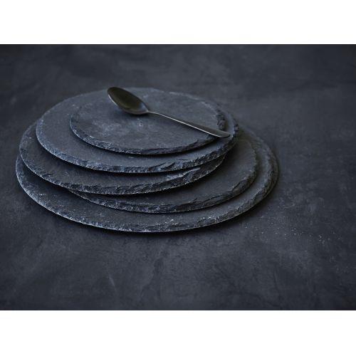 Kulatá břidlicová servírovací podložka Slate 20 cm