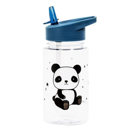 Dětská lahev s brčkem Panda 450ml