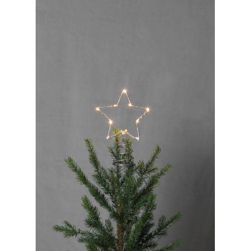 Svítící vánoční hvězda na stromeček Topsy