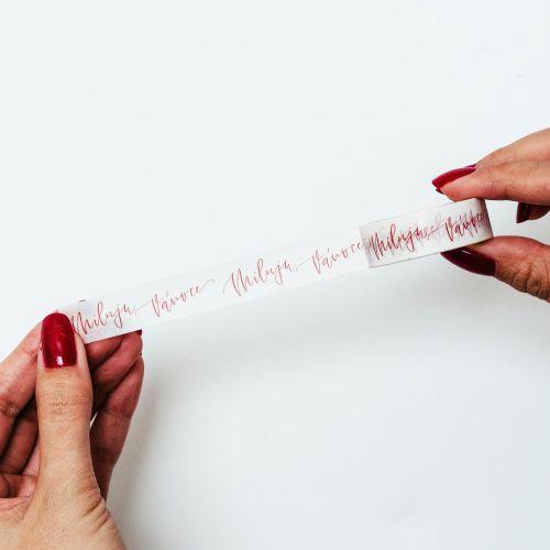 Vánoční papírová lepicí páska Miluju Vánoce