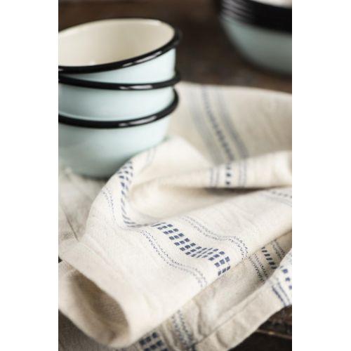Bavlněná utěrka Blue Stripes Woven 50×70 cm
