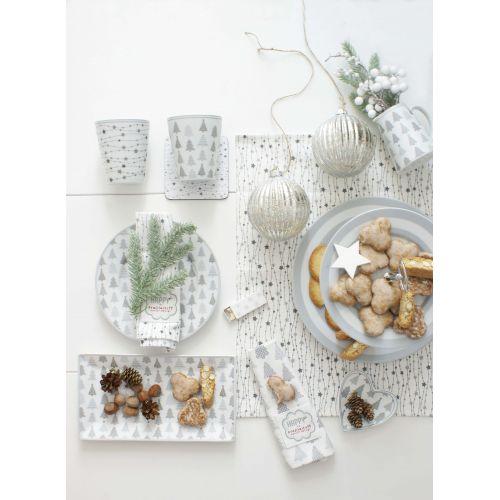 Porcelánový dezertní talíř Christmas Trees