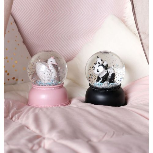 Svítící sněhová koule - Swan Princess