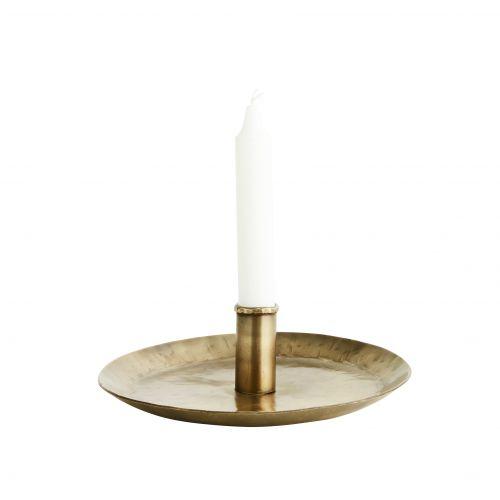 Ručně kovaný svícen Antique Brass 21 cm