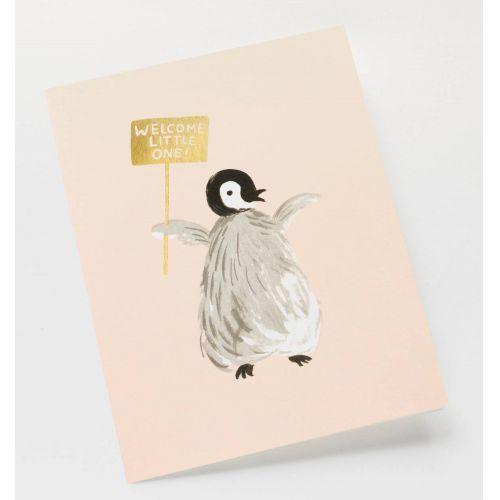 Přání s obálkou Welcome Penguin