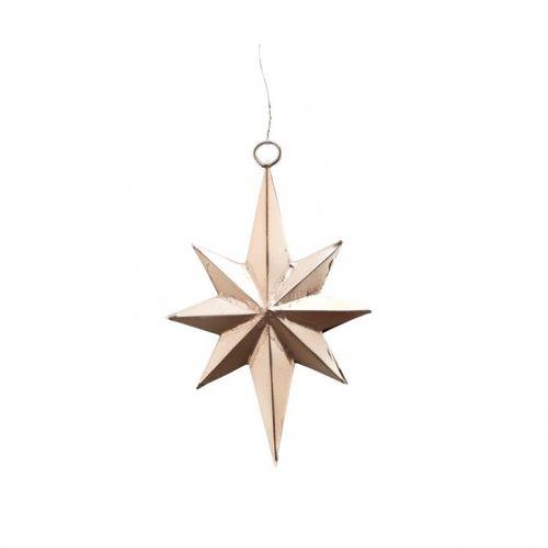 Závěsná vánoční dekorace Star Bethlehem Antique Silver