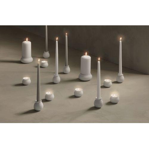 Porcelánový svícen na čajovou svíčku Curve White