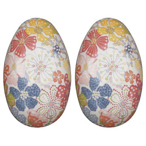Plechové vajíčko Flower