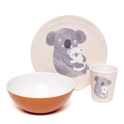 Dětský melaminový talíř Koala
