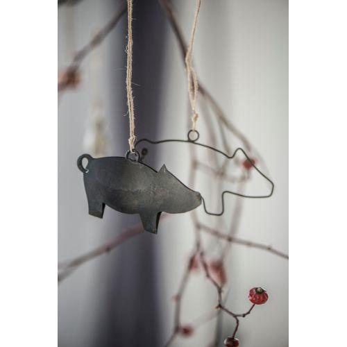 Dekorativní drátěné prasátko