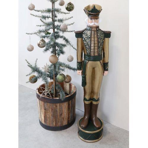 Vánoční baňka Moss Glitter Pattern 8 cm