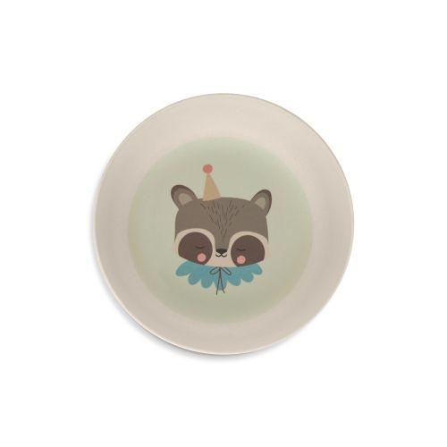 Bambusové nádobí pro děti Circus Raccoon - set 5 ks