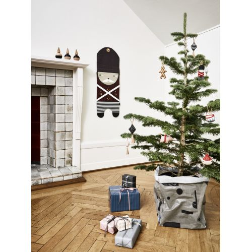 Textilní vánoční ozdoby Christmas - set 5 ks