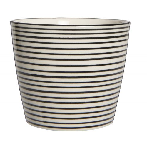 Latte cup Casablanca black stripe