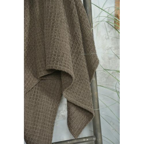 Bavlněný ručník Vaffle Dark Brown 70x140cm