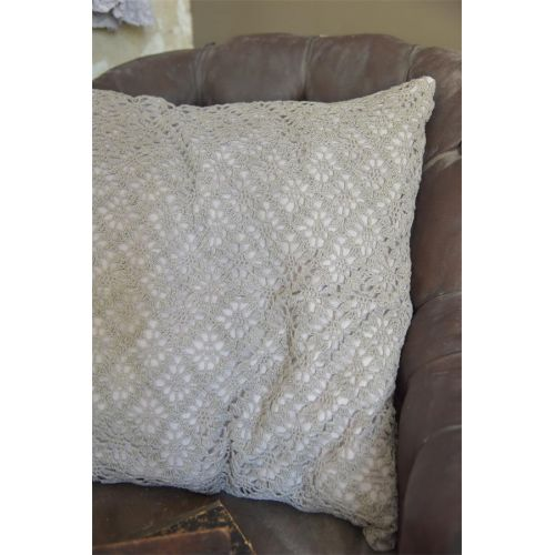 Háčkovaný povlak na polštář Chrocheted Grey