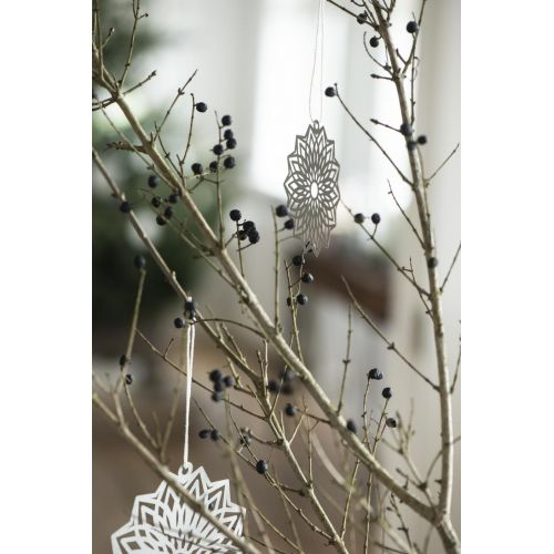 Závěsná papírová ozdoba Flower Grey 8 cm