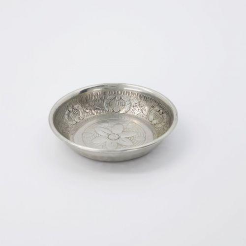 Kovový tácek Tura Antique Silver 10 cm