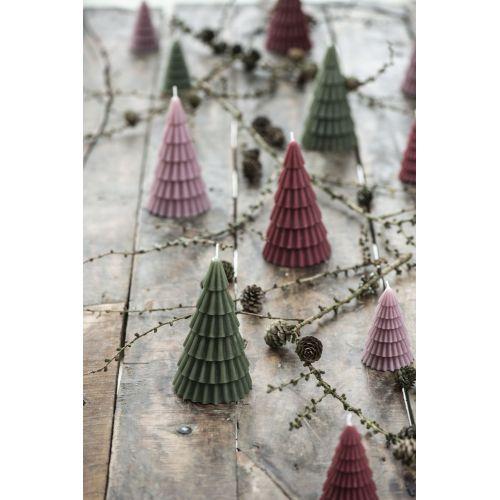 Vysoká svíčka Christmas Tree Malva