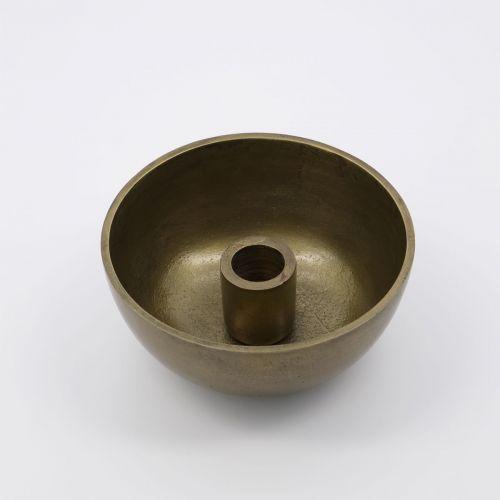Kovový svícen Crown Antique Brass ⌀12,5 cm