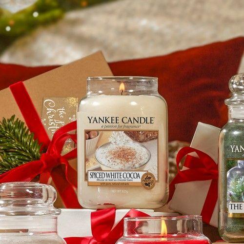 Svíčka Yankee Candle 623gr - Spiced White Cocoa