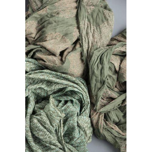 Bavlněný šátek Green Ornament Combinations