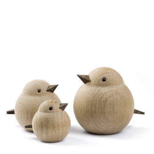 Dřevěný ptáček Baby Sparrow Natural Oak