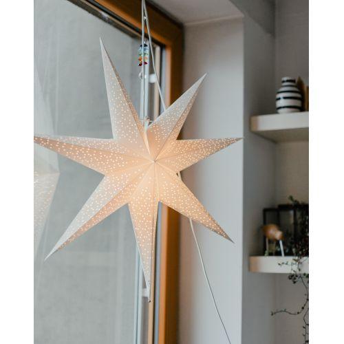 Závěsná svítící hvězda Dot White 70 cm