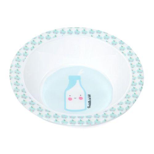 Dětská melaminová miska Petit déjeuner Blue
