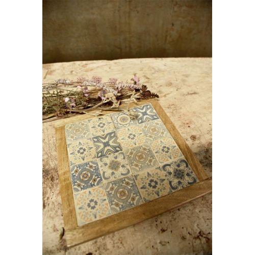 Dřevěná podložka Tiles 23x23 cm