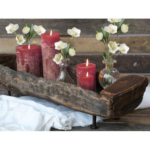 Svíčka Rustic Dark Red 15cm