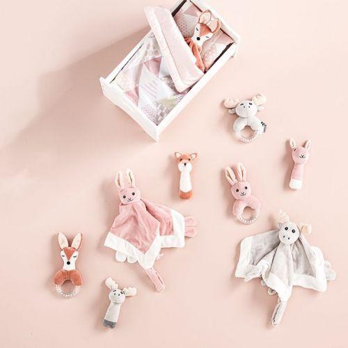 Dětské chrastítko s kousátkem Pink Rabbit