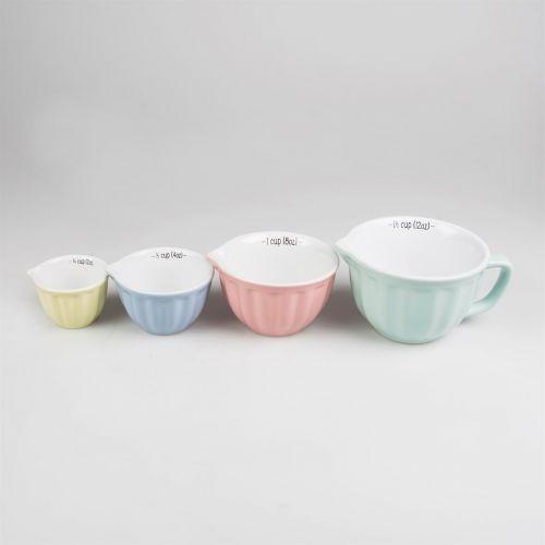 Keramické odměrky Retro Pastel- set 4 ks