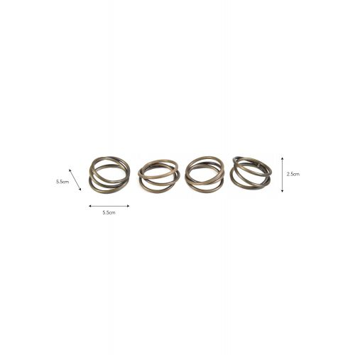 Kroužky na ubrousky Brompton - set 4 ks