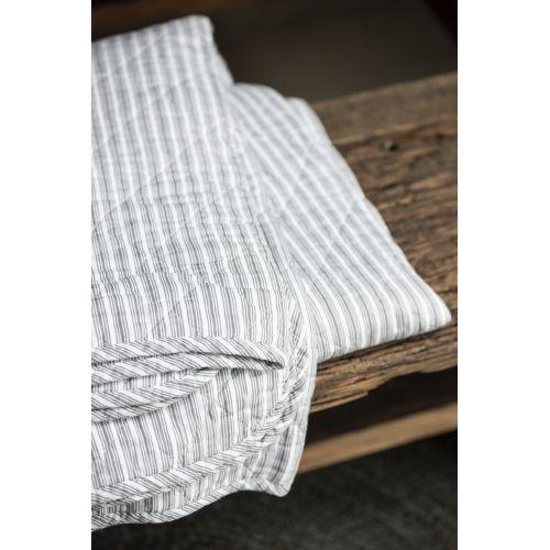 Prošívaný bavlněný přehoz Dark Grey Stripes 130x200