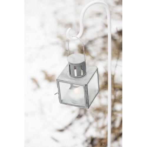 Skleněná lucerna Grey Mini